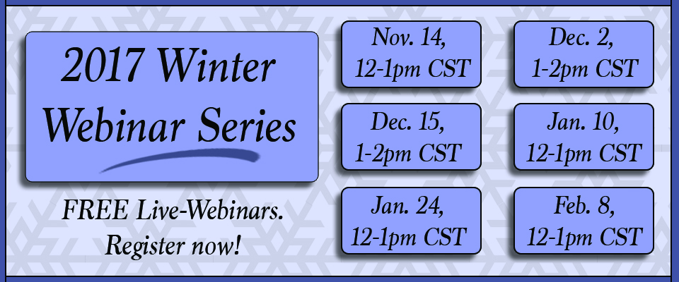 2017 Winter Webinar Series
