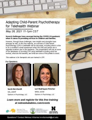Adapting Child-Parent Psychotherapy for Telehealth Webinar