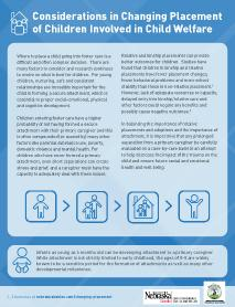 Considerations in Changing Placements of Children Involved in Child Welfare