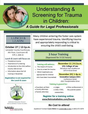 Understanding & Screening for Trauma in Children: A Guide for Legal Professionals