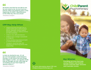 The front cover of the CPP Brochure for Families.